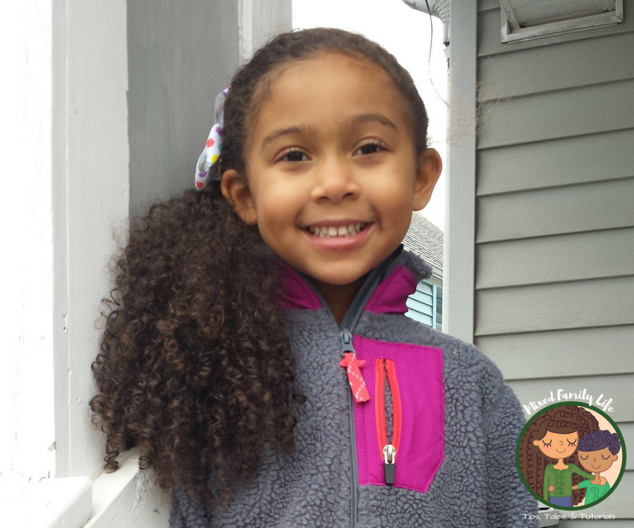 Simple and Cute Side Pony Tail by Mixed Family Life for Multiracial Media