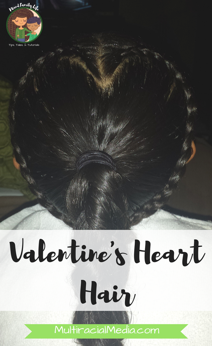 Valentines Heart Hair - by Mixed Family Life - for Multiracial Media