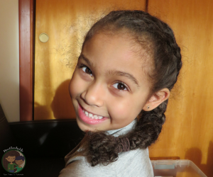 Cute and Simple Braided Braid Hairstyle by Mixed Family Life for Multiracial Media
