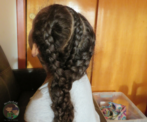 Cute and Simple Braided Braid Hairstyle by Mixed Family Life for Multiracial Media _ Back of Head