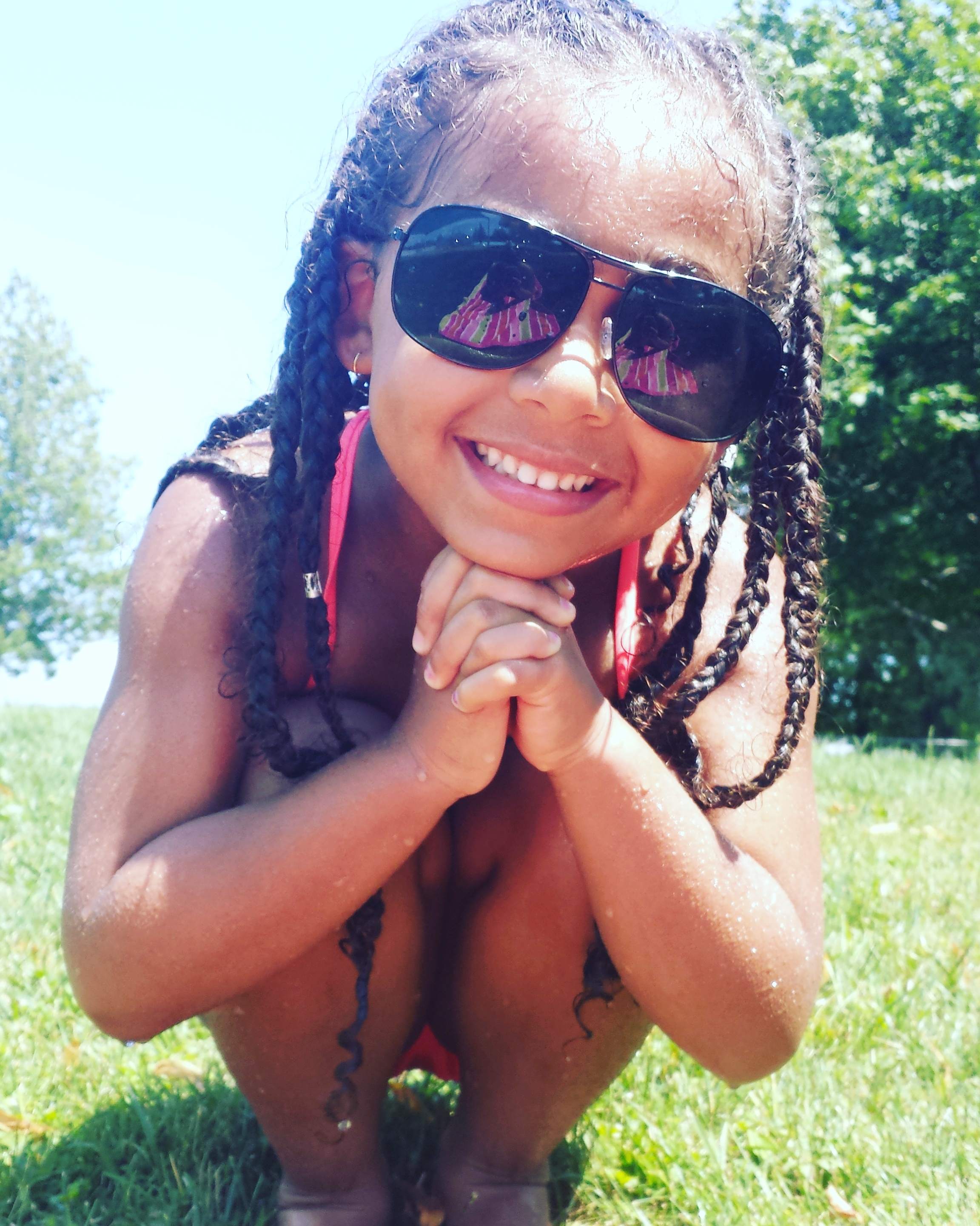 Swimming Tips for Curly / Multiracial Kids Hair - by Mixed Family Life for Multiracial Media _ Protective Style