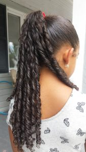 Finger Curls Ponytail by Mixed Family Life for Multiracial Media _ FingerCurlsDone