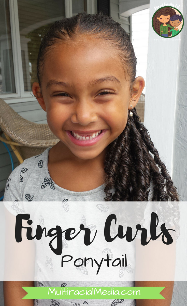 Finger Curl Ponytail by Mixed Family Life for Multiracial Media